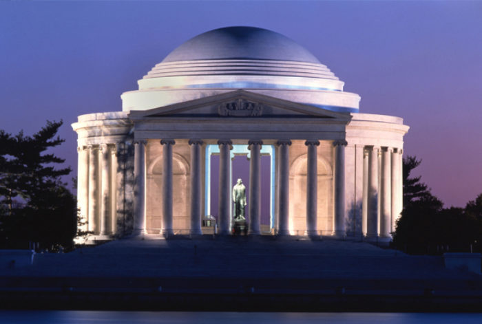 The Jefferson Memorial in Washington DC at Night