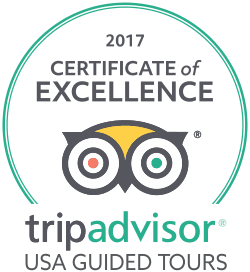 USA Guided Tours Trip Advisor Certificate of Excellence