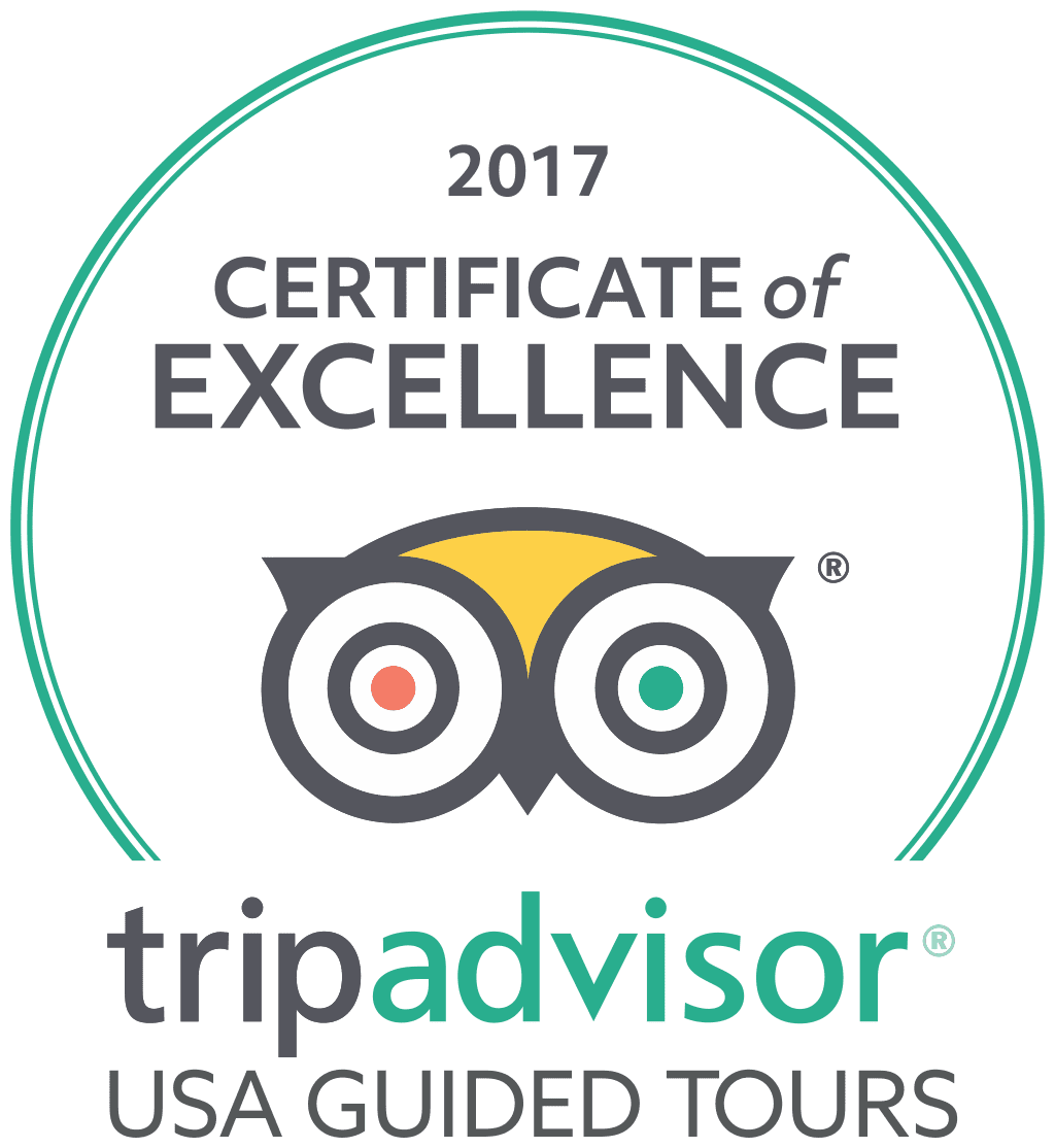 USA Guided Tours TripAdvisor Certificate of Excellence